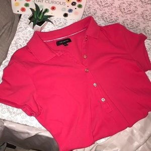Small cute polo from the Limited in a fuschia